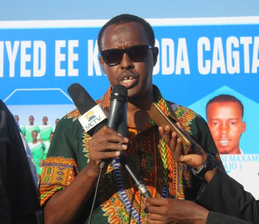 Somali Football Federation president, Abdiqani Said Arab