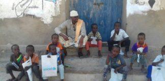 Teachers at Alula Primary & Intermediate School in Alula district,