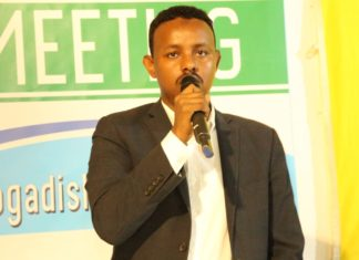 Ahmed Omar Islaw Somali Deputy Minister for Youth and Sports