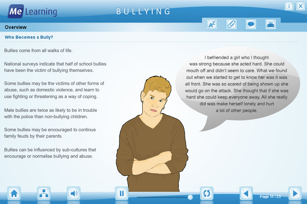 Bullying and Cyberbullying Course Slide 11 of 23