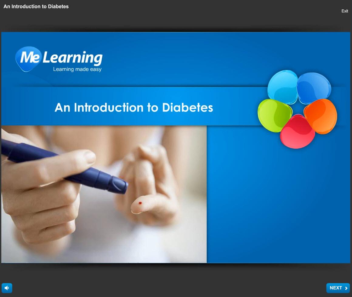 Diabetes Awareness Course introduction Slide