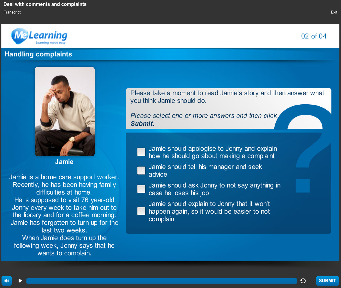 Duty of Care - for Health and Social Care Course Slide 2 of 4