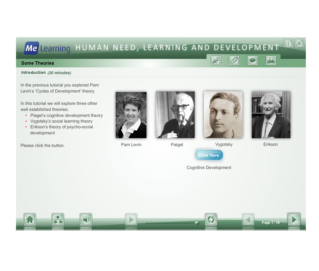 Human Need, Learning and Development Course Slide 1 of 16