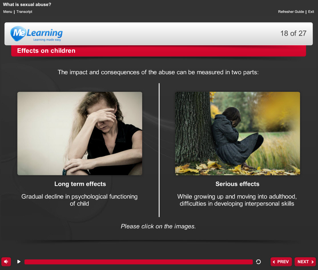 Sexual Abuse and Recognising Grooming Course Slide 18 of 27