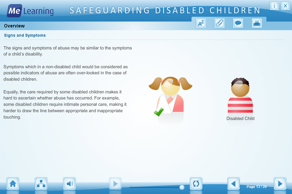 Safeguarding Children with Disabilities Course Slide 13 of 26