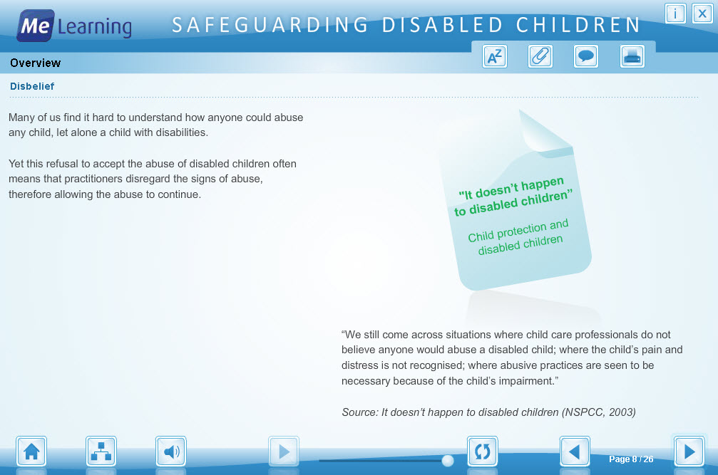 Safeguarding Children with Disabilities Course Slide 8 of 26