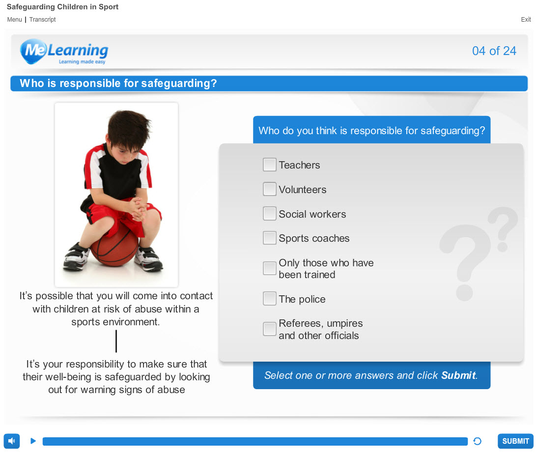 Safeguarding Children in Sport Course Slide 4 of 24