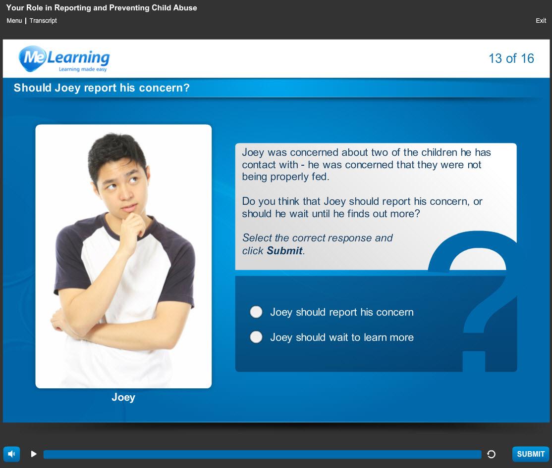 Safeguarding Awareness - For Higher Education Course Slide 13 of 16