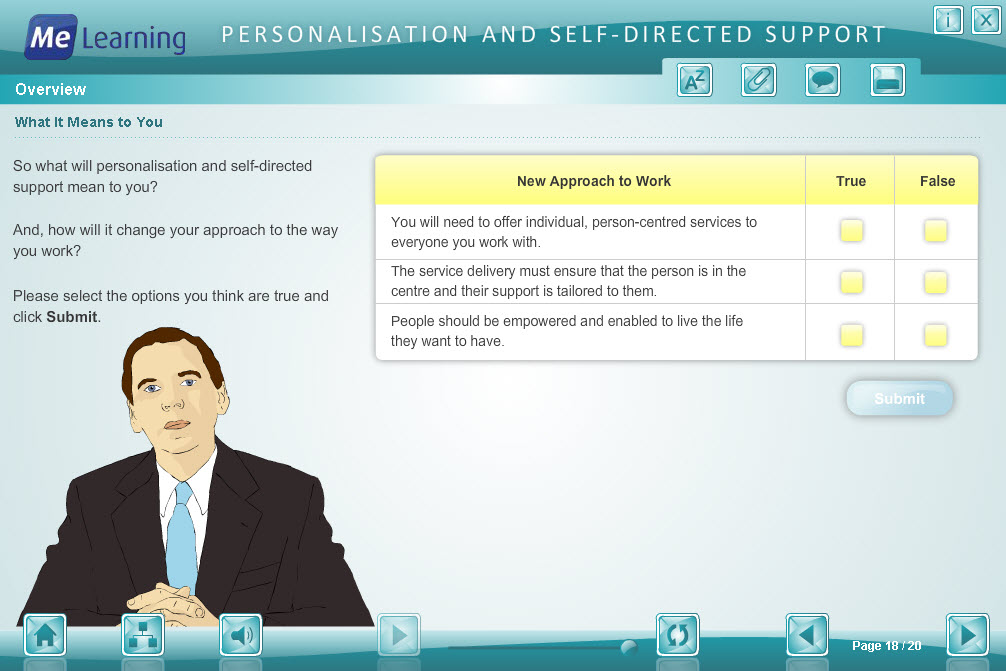 Personalisation and Self Directed Support Course Slide 18 of 20