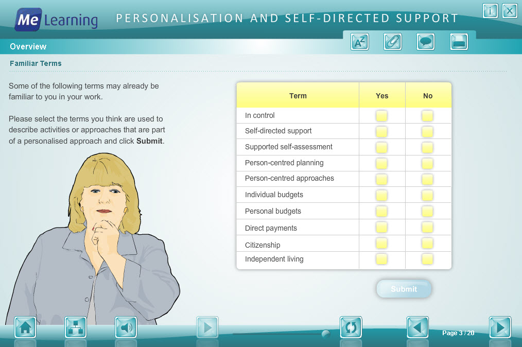 Personalisation and Self Directed Support Course Slide 3 of 20