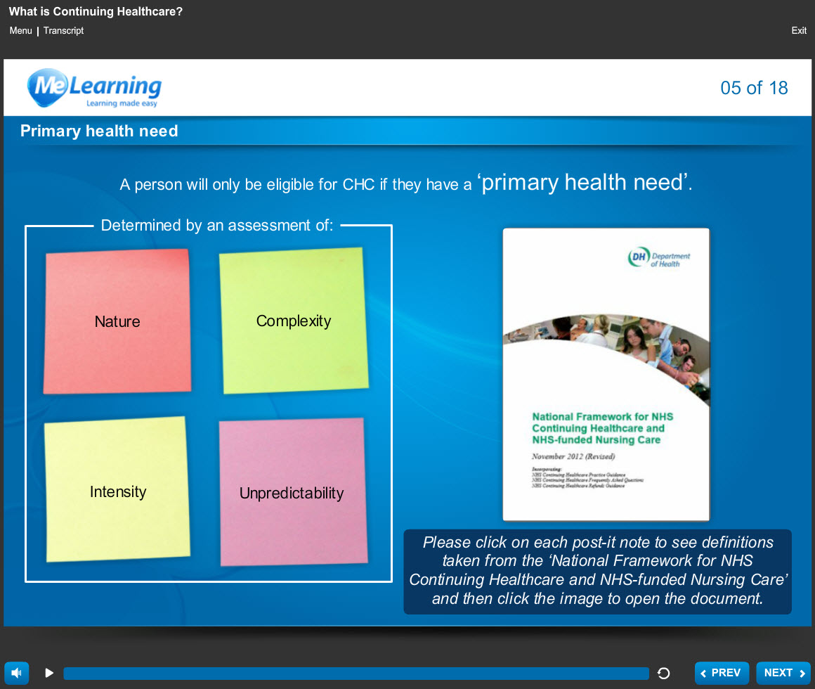 NHS Continuing Healthcare Course Slide 5 of 18