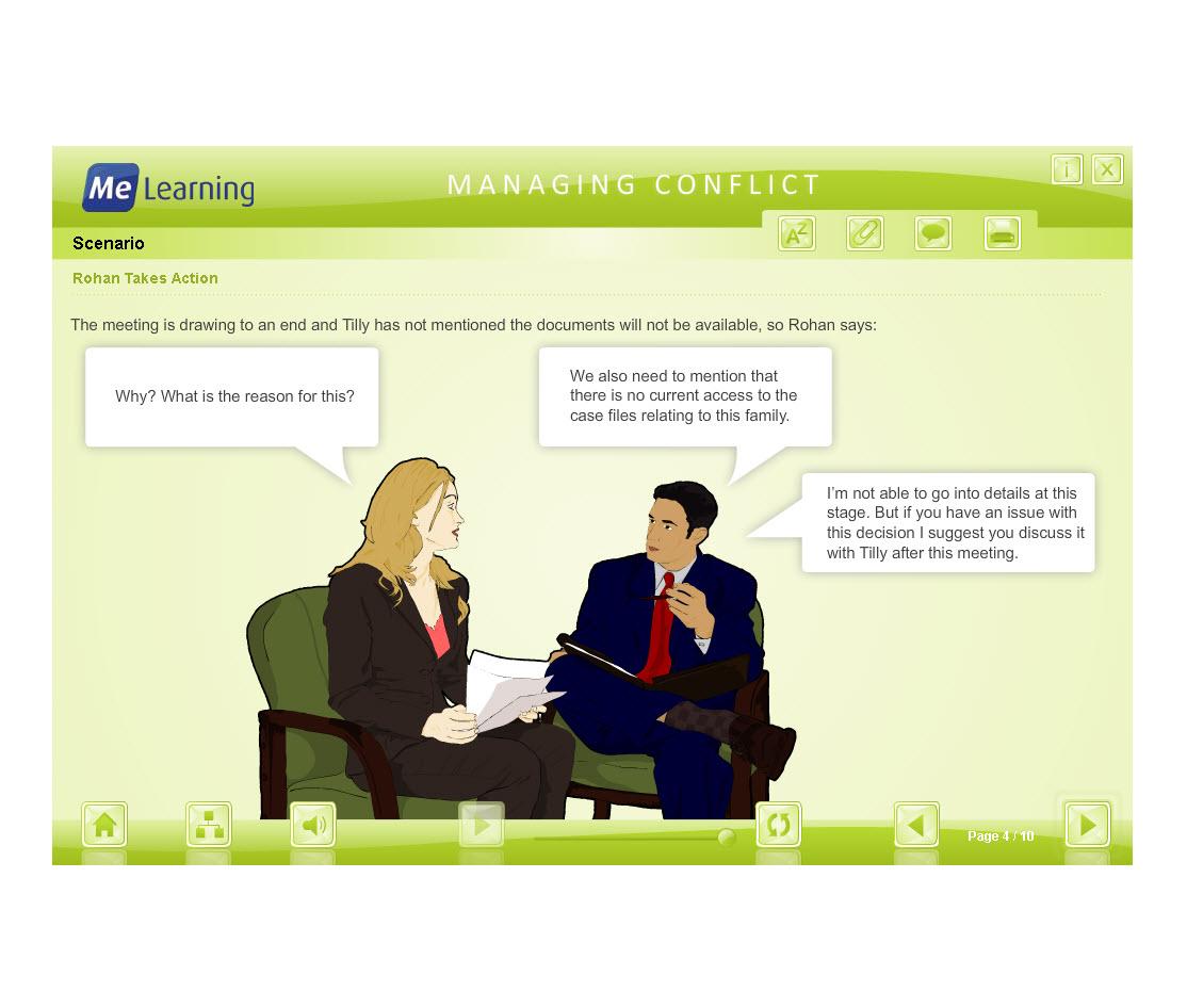 Managing Conflict - Adult Workforce Course Slide 4 of 10