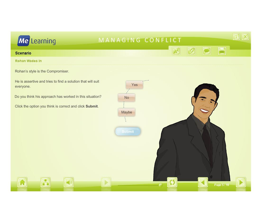 Managing Conflict - Adult Workforce Course Slide 5 of 18