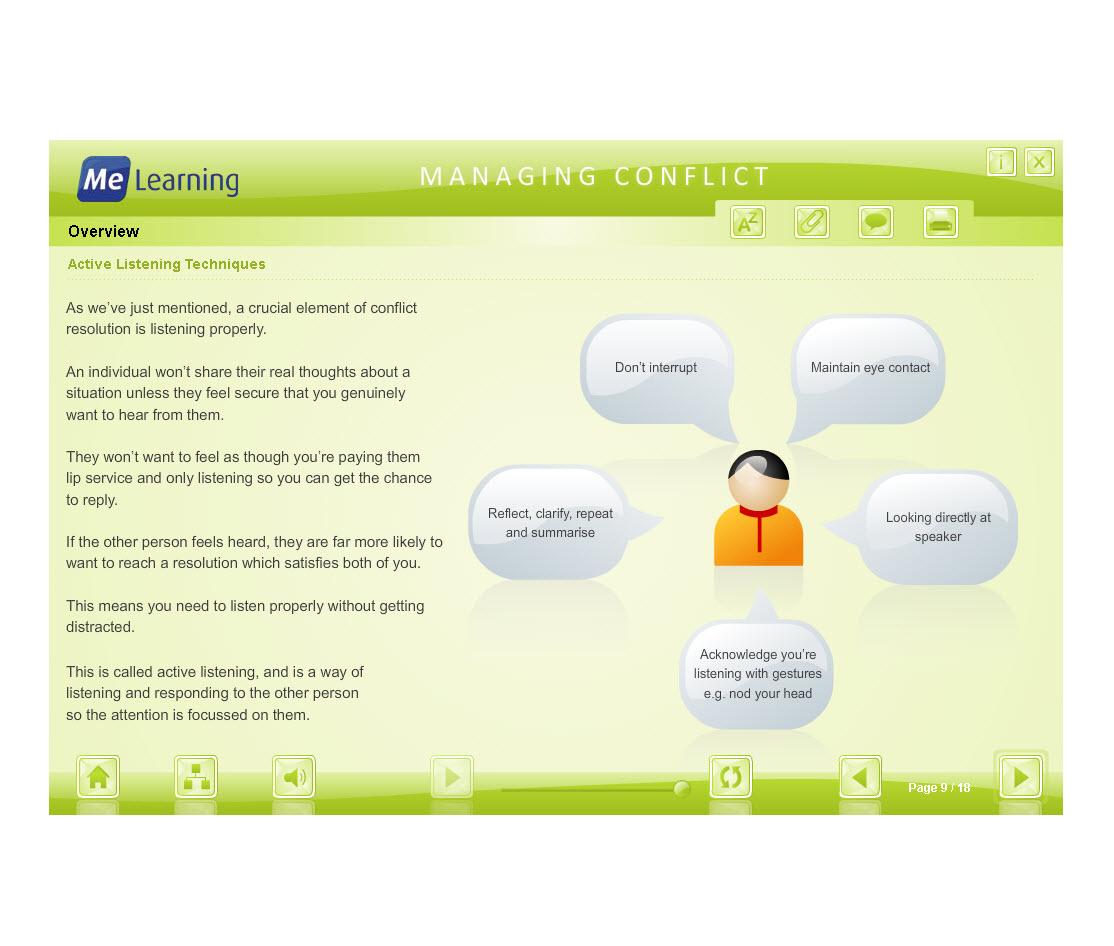 Managing Conflict - Adult Workforce Course Slide 9 of 18