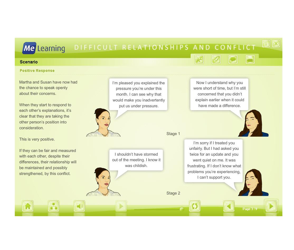 Managing Conflict - Adult Workforce Course Slide 3 of 9