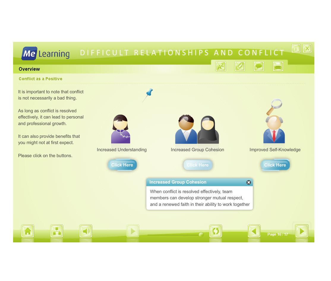 Managing Conflict - Adult Workforce Course Slide 16 or 17