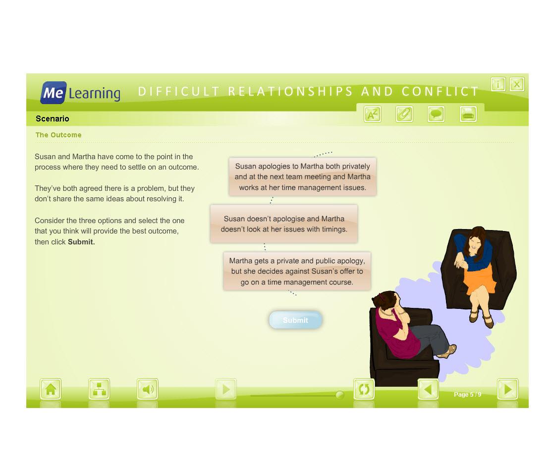 Managing Conflict - Adult Workforce Course Slide 5 of 9