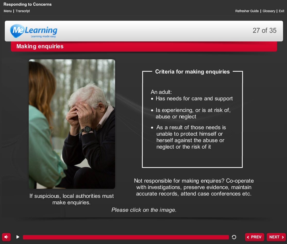 Safeguarding Adults (Level 1) Course Slide 27 of 35