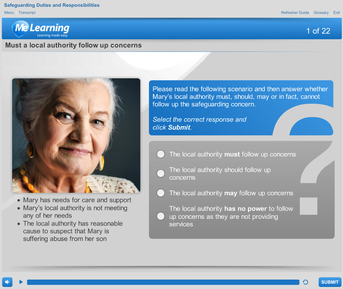 Safeguarding Adults (Level 2) Course Slide 1 of 22