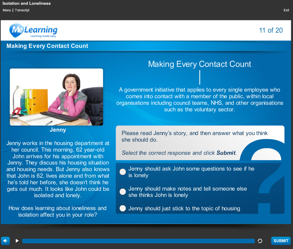 Making Every Contact Count - Loneliness and Isolation Course Slide 11 of 20