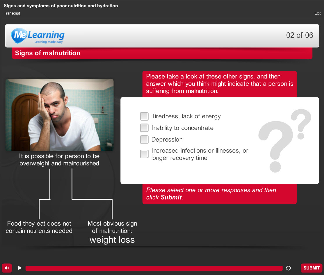 Fluids and Nutrition - for Health and Social Care Course Slide 2 of 6