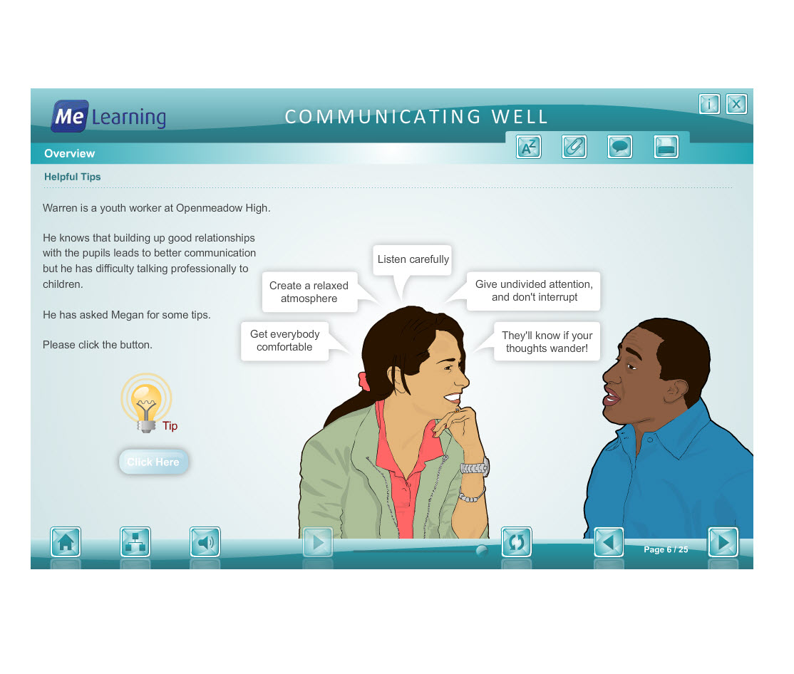 Effective Communication with Children and Families Course Slide 6 of 25