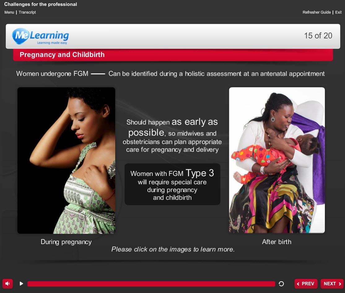 Female Genital Mutilation course slide 15 of 20