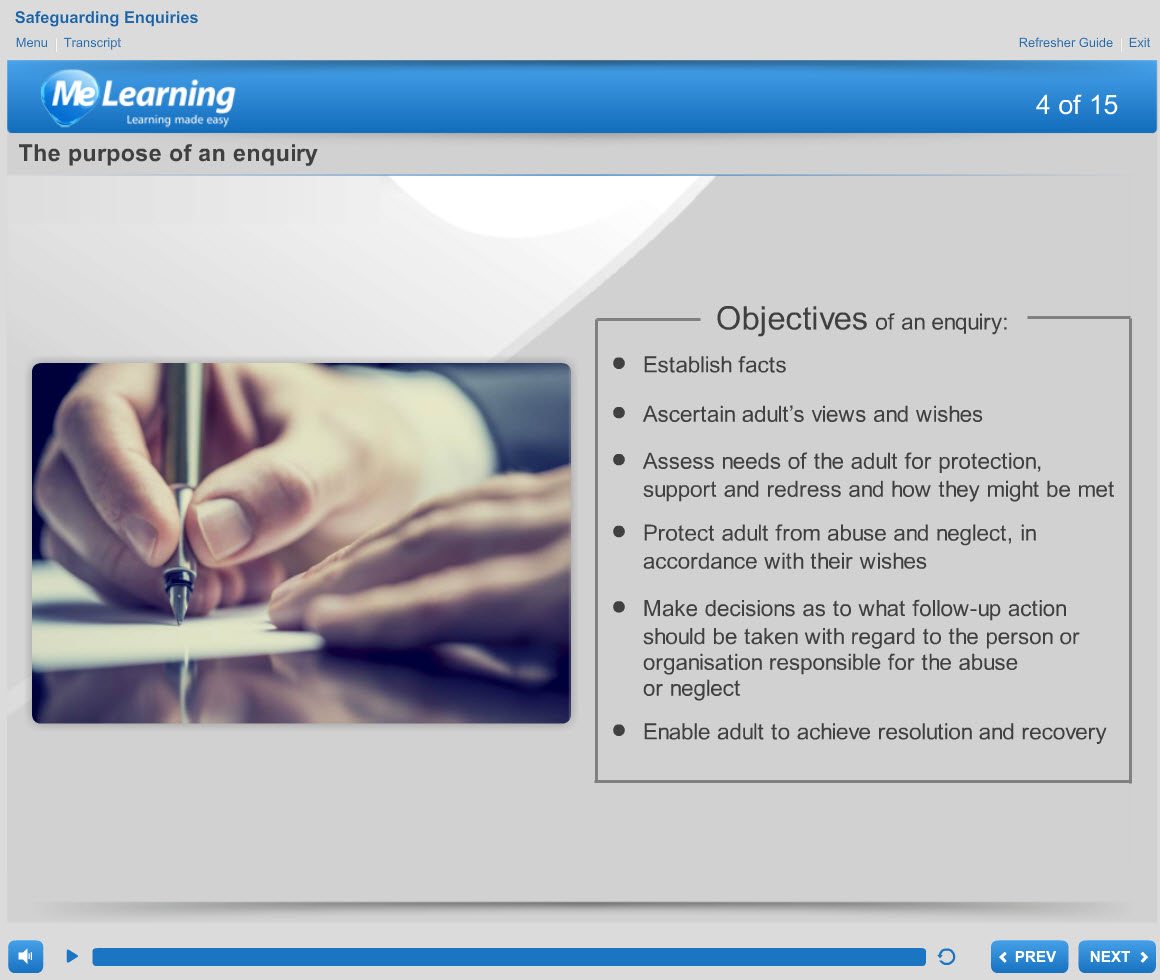 Safeguarding Adults (Levels 1 and 2) Course Slide 4 of 15