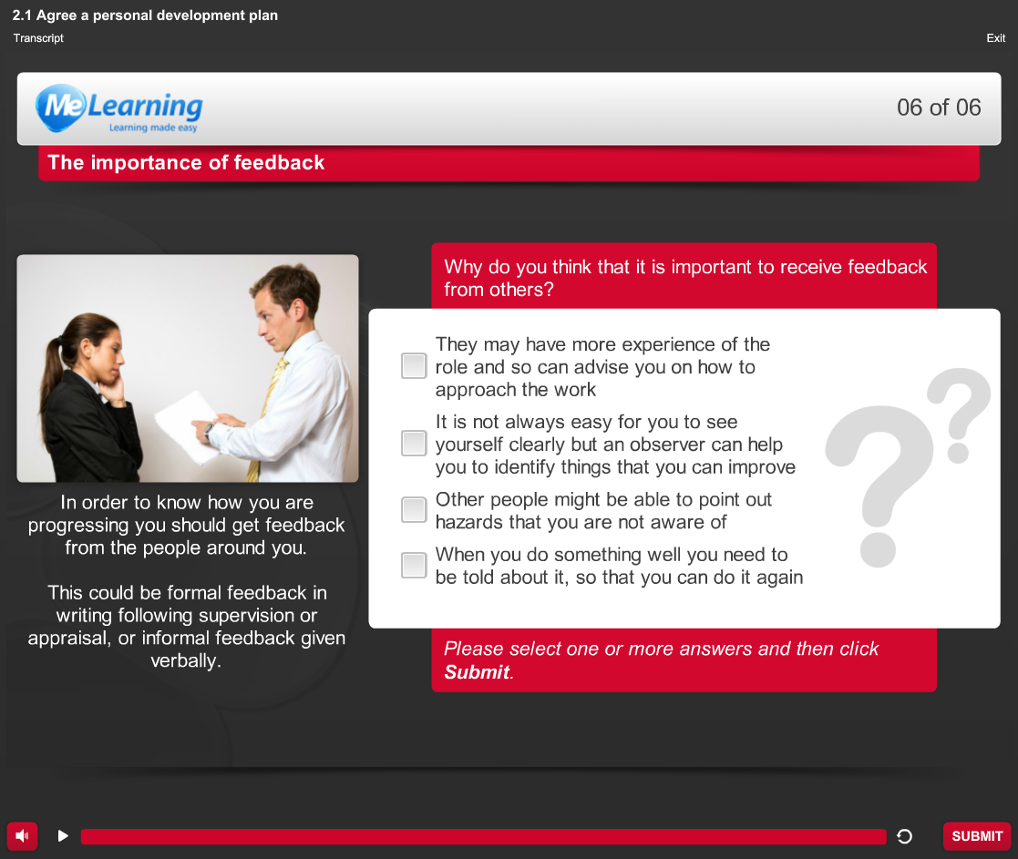 Your Personal Development - for Health and Social Care Course Slide 6 of 6