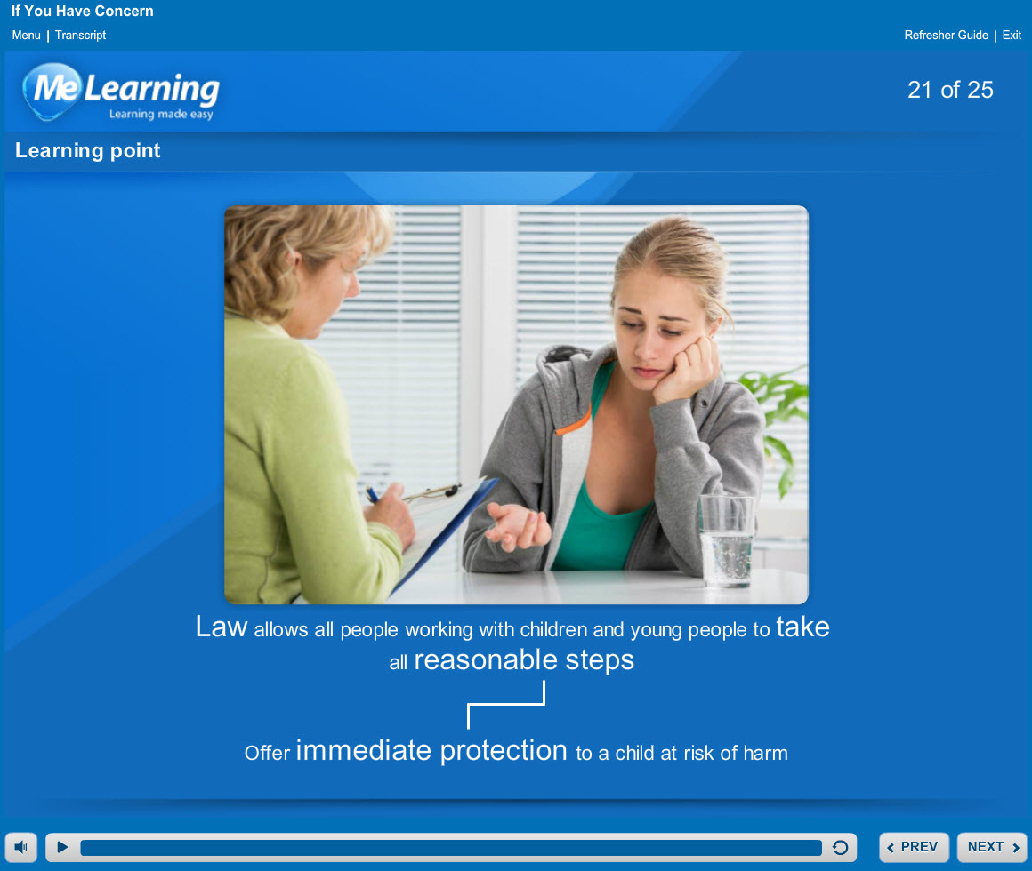 Safeguarding Children Level 1 Course Slide 21 of 25