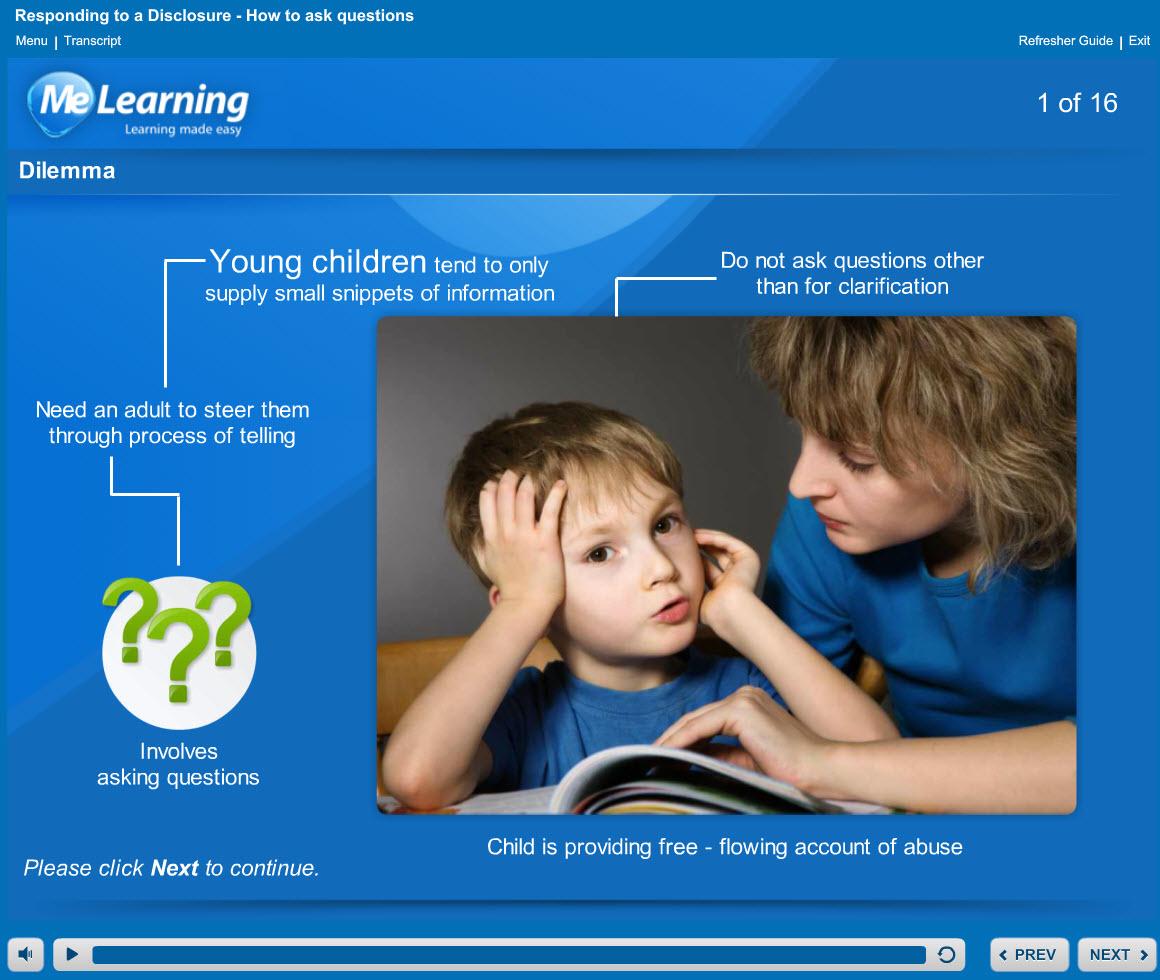 Safeguarding Children Level 2 Course Slide 1 of 16