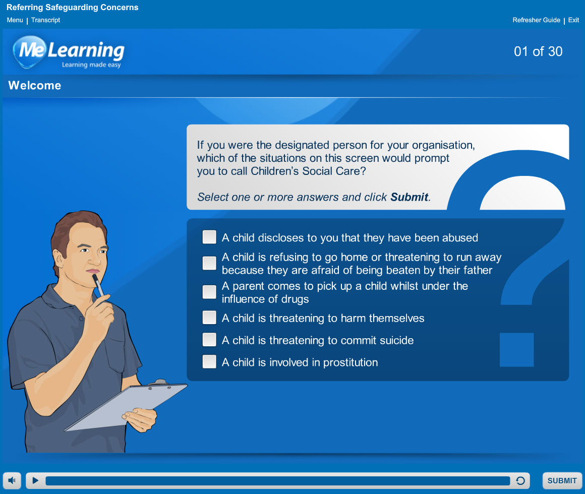 Safeguarding Children Level 2 Course Slide 1 of 30