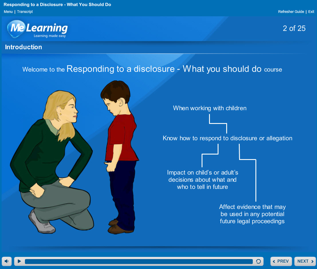 Safeguarding children Levels 1 and 2 Course Slide 2 of 25