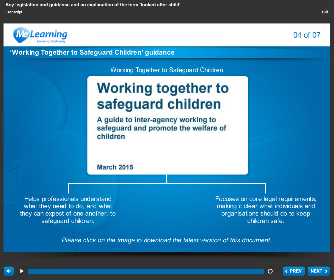 safeguarding Children awareness health and social care course slide 4 of 7