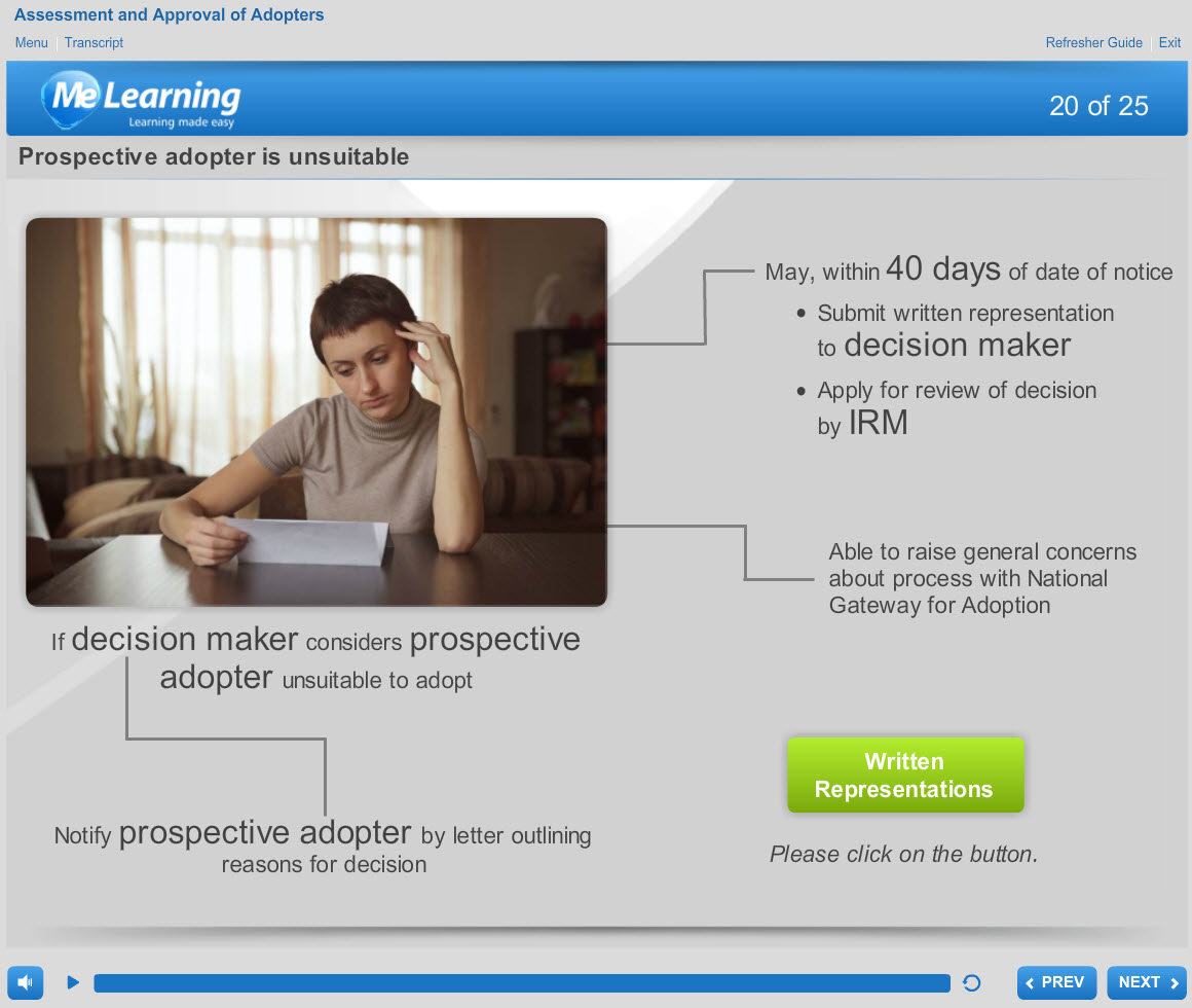 Assessment and Approval of Adopters Course Slide 20 of 25