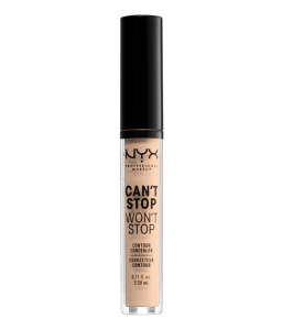 NYX Can't Stop Won't Stop Concealer in the palest shade. 8 Best Concealers for Fair Skin - Makeup and Mane