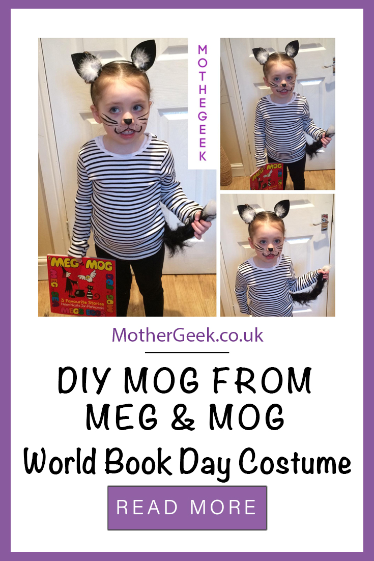 DIY Meg and Mog for World Book Day Costume - pin