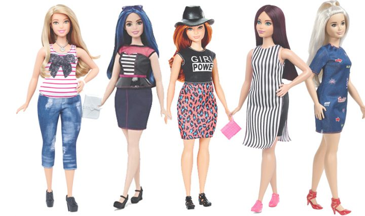 plus size dolls - barbie fashionistas