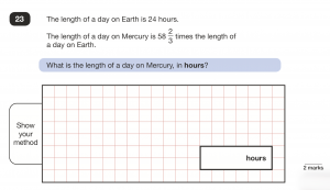 Key Stage 2 Maths Tuition - fractions question