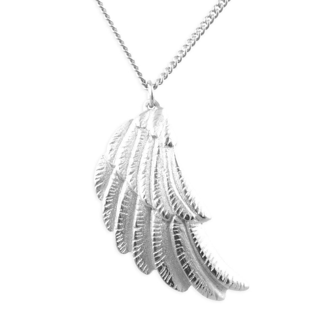 close up of the Wing Necklace