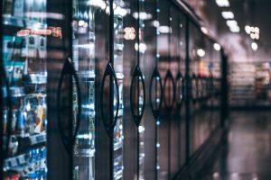 freezers in supermarket - corner shop vs supermarket