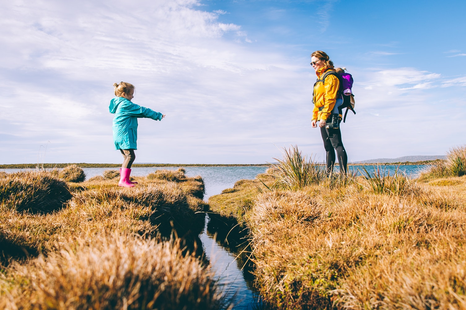 mym and daughter walking in countryside - let go of mum guilt
