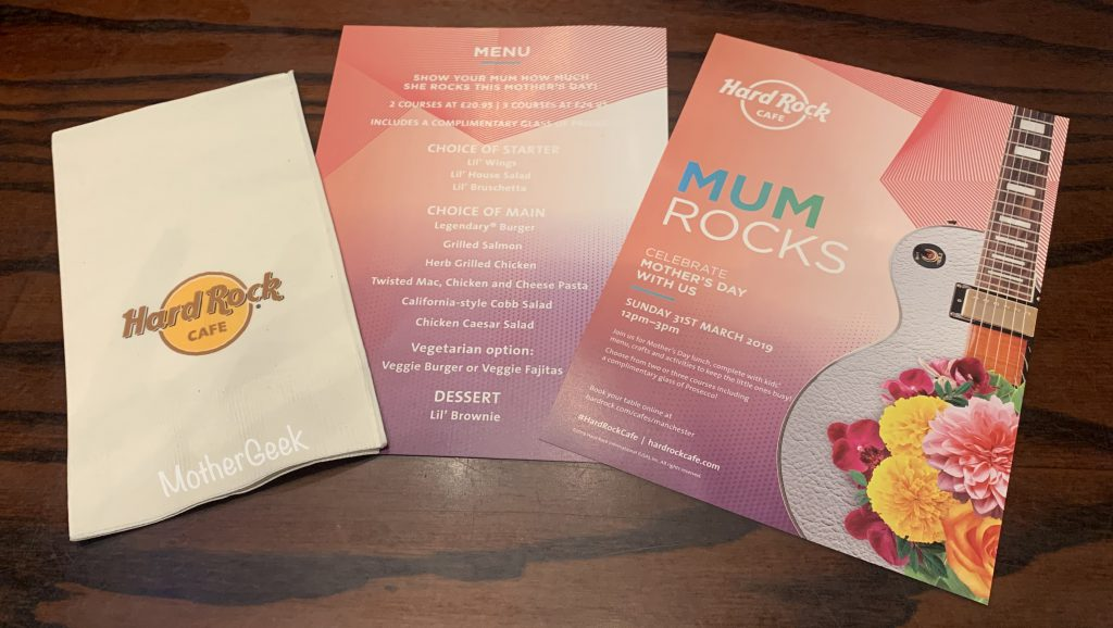 Mother's Day Menu At Hard Rock Cafe Manchester