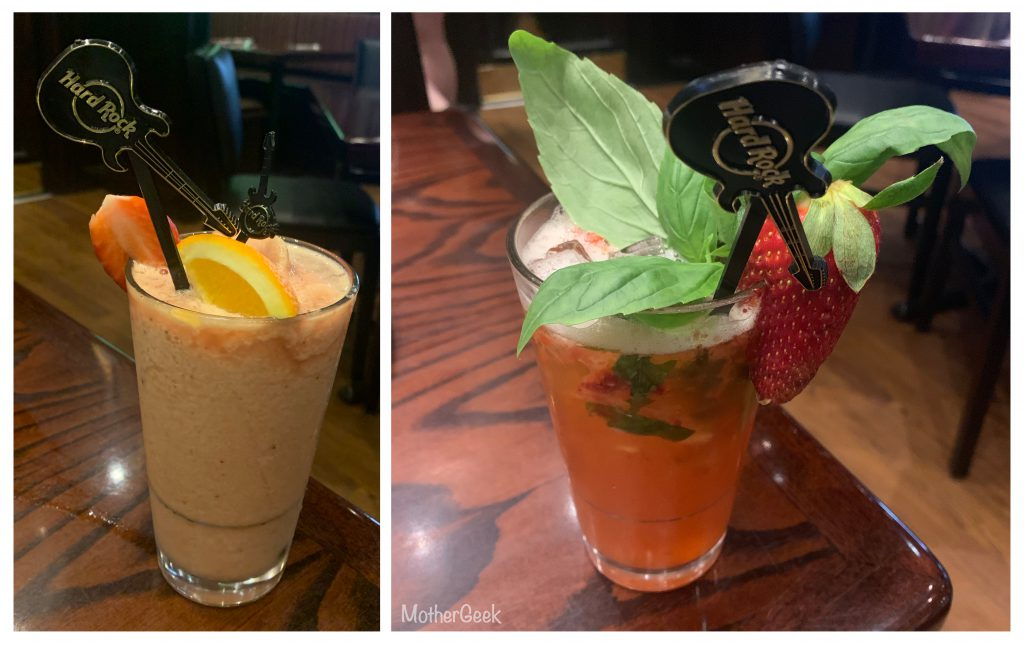 Mother's Day Menu At Hard Rock Cafe Manchester mocktails