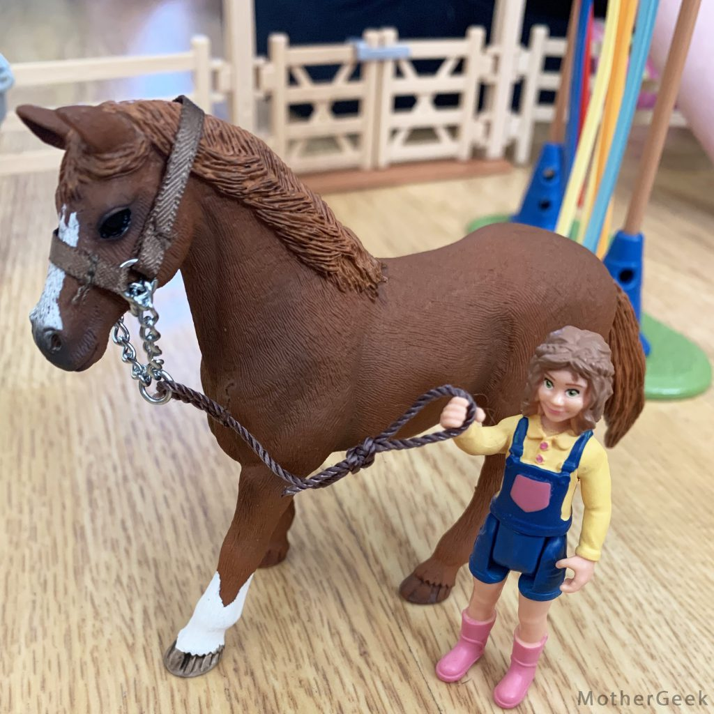 Schleich horse and girl