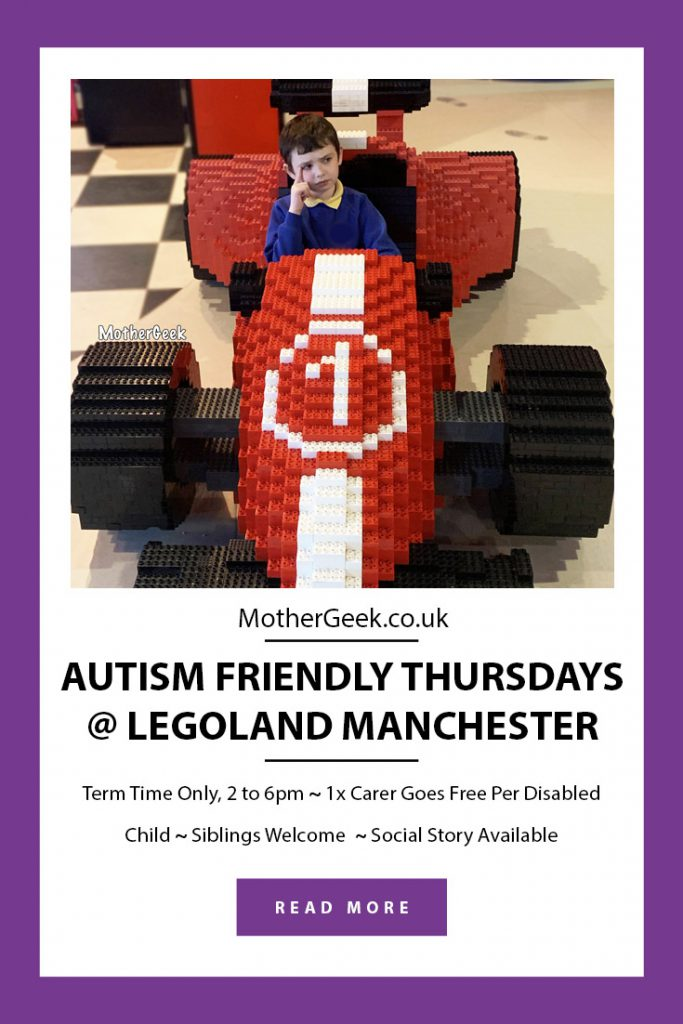 Autism friendly sessions at Legoland Discovery Manchester - Pinterest Pin