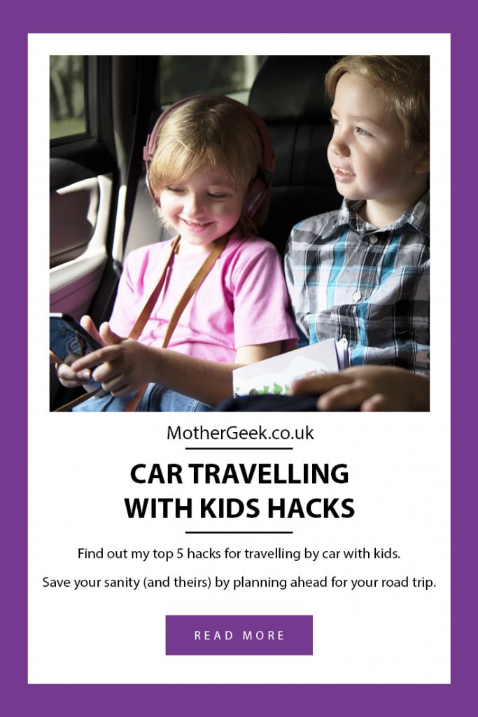 Car Travelling With Kids Hacks -pinterest pin