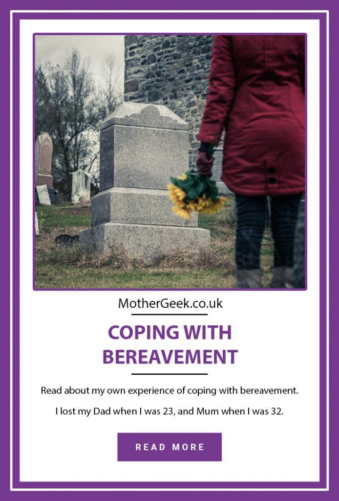 pinterest pin showing woman at graveside,