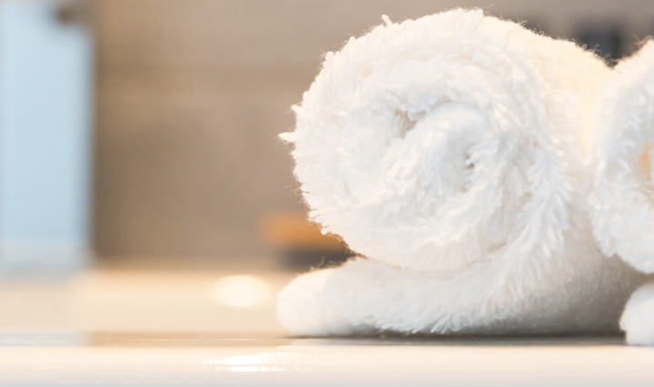 2 rolled up towels - Creating A Stylish Family Bathroom