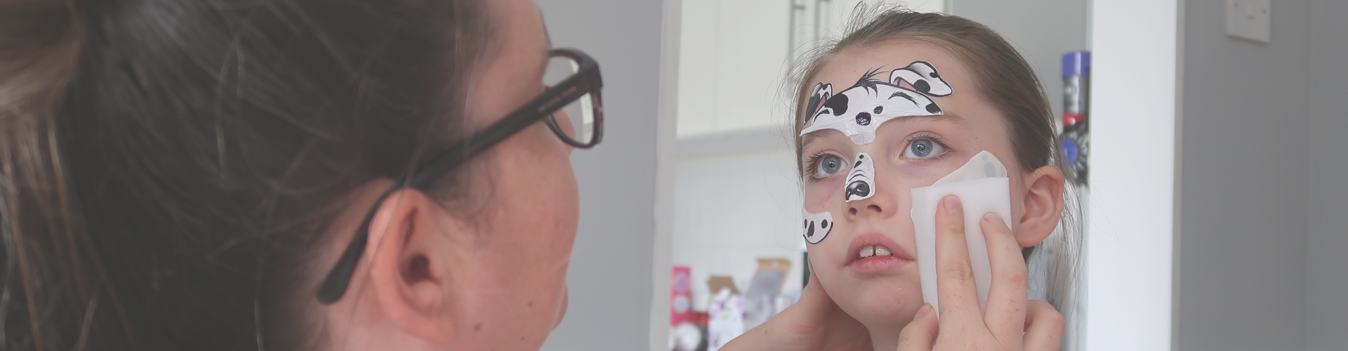 Face Paintoos Party Pack Review - applying them